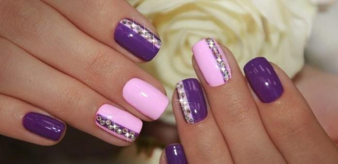Фото фиолетовых ногтей