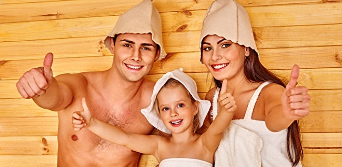 смотреть вся семья в бане
